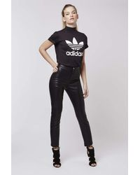 TOPSHOP | Black Petite Pu Skinny Trousers | Lyst