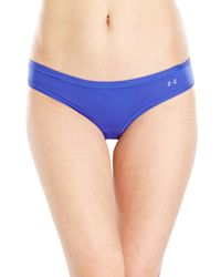 Under Armour - Blue Stretch Sheer Thong - Lyst