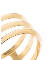 Ileana Makri - Metallic Triple Disc Gold Ring - Lyst