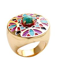 Noir Jewelry | Metallic Fatima Statement Ring | Lyst
