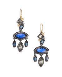 Alexis Bittar - Blue Elements Dark Alchemy Crystal Rocky Marquis Chandelier Earrings - Lyst