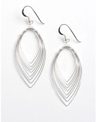 Lord & Taylor | Metallic Sterling Silver Feather-effect Drop Earrings | Lyst