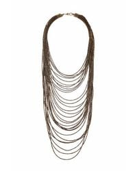TOPSHOP | Metallic Bead Multirow Necklace | Lyst