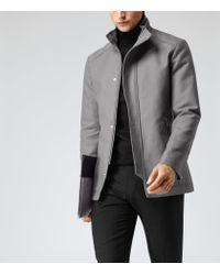 Reiss - Gray Raekon Twill Technical Jacket for Men - Lyst