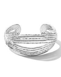 Ippolita | Metallic Sterling Silver Wired Cuff With Diamonds | Lyst