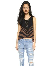 Free People | Multicolor Touch Of Love Top - Black Combo | Lyst