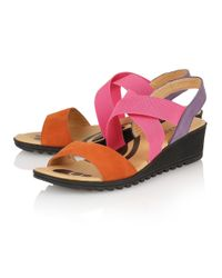 Lotus | Orange Nettie Open Toe Sandals | Lyst