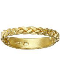 Dogeared - Metallic Balance Braided Bar Ring - Lyst