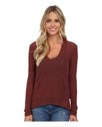 Volcom - Brown Free To Go V-neck Top - Lyst