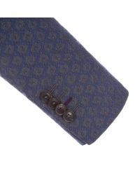 Paul Smith | Blue Men's Tailored-fit Navy Jacquard Cotton Blazer for Men | Lyst