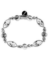 Givenchy | Metallic Silver-tone Crystal Flex Bracelet | Lyst