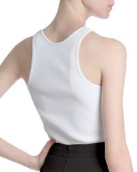 Givenchy - White Ribbed Racerback Tank Top - Lyst
