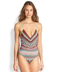 L*Space - One-Piece Plunging Swimsuit - Lyst
