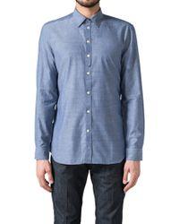 DIESEL - Blue S-achai Long Sleeved Shirt for Men - Lyst