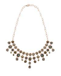 Monica Vinader - Metallic Labradorite Siren Bib Necklace - Lyst