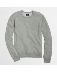 J.Crew | Gray Factory Lightweight Fleece Crewneck Sweatshirt for Men | Lyst