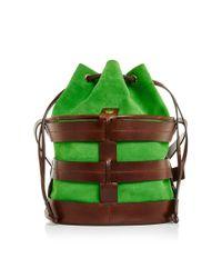 Trademark - Green Leather Sorrento Bucket - Lyst