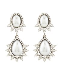 DANNIJO | White Penelope Earrings | Lyst