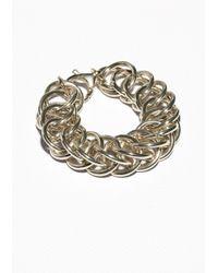 & Other Stories | Metallic Chunky Chain Bracelet | Lyst