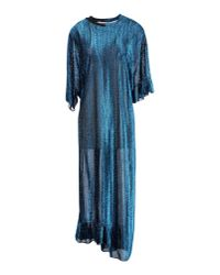 Julien David - Blue 3/4 Length Dress - Lyst