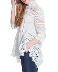 Plenty by Tracy Reese - White Scalloped Lace Hi-lo Tunic - Lyst