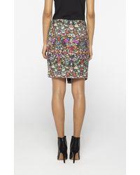 Nicole Miller - Multicolor Luxuriant Asymmetrical Skirt - Lyst