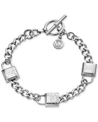 Michael Kors | Metallic Padlock Motif Toggle Bracelet | Lyst