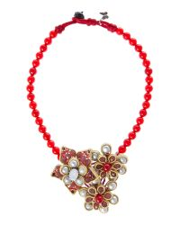 Weekend by Maxmara | Red Monica Beaded Necklace | Lyst