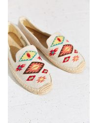 Soludos | Brown Embroidery Espadrille Loafer | Lyst