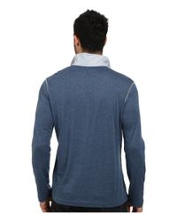 Tommy Bahama - Blue Heather Cotton Modal Jersey Pullover for Men - Lyst
