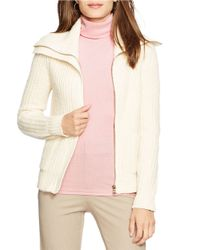 Lauren by Ralph Lauren | Pink Cotton Turtleneck Top | Lyst