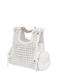 Corto Moltedo - White Priscillini Woven Leather Shoulder Bag - Lyst