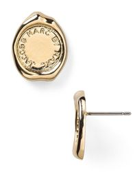 Marc By Marc Jacobs - Metallic Stamped Stud Earrings - Lyst