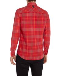 Duck and Cover | Red Cleef Long Sleeve Check Shirt for Men | Lyst