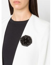 Simone Rocha - Black Beaded Brooch - Lyst