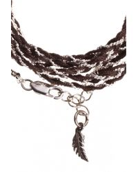 Only Noa Chez Carré Y. | Gray Chocolate Braided Bracelet | Lyst