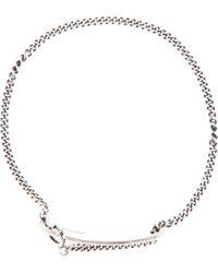 Ann Demeulemeester - Metallic Silver Chain Id Bracelet for Men - Lyst