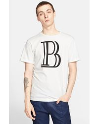 Balmain - White Logo T-shirt for Men - Lyst