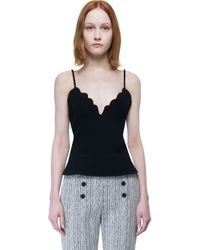 Carven - Black Top - Lyst