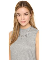 Lulu Frost - Metallic Labyrinth Necklace - Lyst