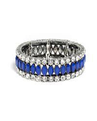BaubleBar | Blue Bold Marquise Stretch Bracelet | Lyst