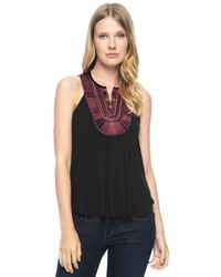 Ella Moss | Black Bella Scoop Tank | Lyst