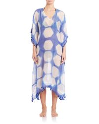 Roberta Roller Rabbit | Blue Tie-dye Cotton & Silk Caftan | Lyst
