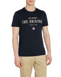 Ben Sherman | Blue The Original Print Crew Neck T-shirt for Men | Lyst