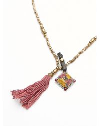 Free People | Pink Ishi Womens Yala Necklace | Lyst