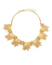 Ca&Lou | Metallic Miranda Crystal Bib Necklace | Lyst