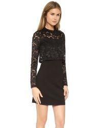 Parker | Black Luciana Combo Dress | Lyst