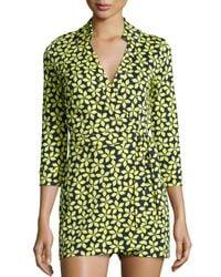 Diane von Furstenberg - Multicolor Celeste Floral Jersey Romper - Lyst