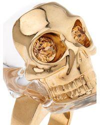 Alexander McQueen - Metallic Masked Resin Skull Ring - Lyst