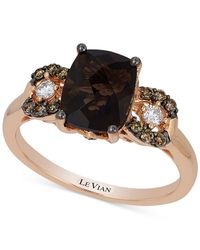 Le Vian | Metallic Chocolatier® Chocolate Quartz (1-9/10 Ct. T.w.) And Diamond (1/5 Ct. T.w.) Ring In 14k Rose Gold | Lyst